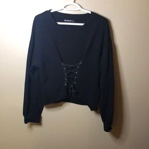 Blank NYC cropped corset sweater